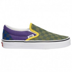 Vans Classic Slip On Blue Vans Classic Slip On - Boys' Grade School Green/Purple/Blue | Otw Rally