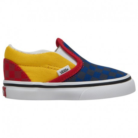 Vans Classic Slip On Navy Vans Classic Slip On - Boys' Toddler Navy/Red/Yellow | Otw Rally