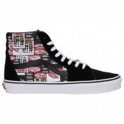 vans label mix era vans label mix era shoes vans sk8 hi label mix men s black red white