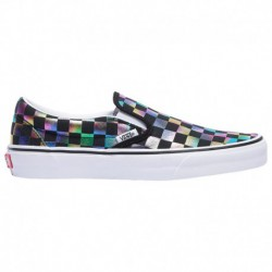 vans classic slip on iridescent check vans classic slip on sneaker iridescent vans classic slip on women s black true white iri