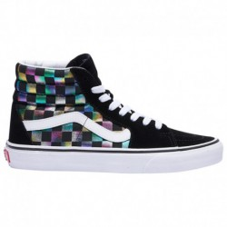 vans iridescent check sk8 hi vans check sk8 hi vans sk8 hi women s black true white iridescent check