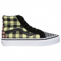 vans hi sk8 yellow all pink sk8 hi vans sk8 hi boys grade school yellow blue pink what the buffalo plaid