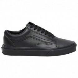 black vans old skool leather leather black vans old skool vans old skool boys grade school black black leather