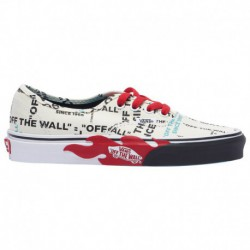 vans authentic true red black vans authentic true red vans authentic boys grade school black true white red otw flame