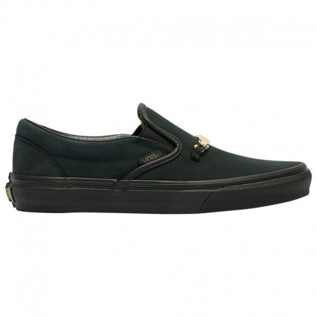 Vans Classic Slip On Black Perforated Leather Women's Vans Classic Slip On - Women's Black   Vans ID