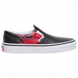 vans classic slip on racing red checkerboard flame vans classic slip on moto leather vans classic slip on boys preschool black