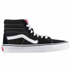 True White Sk8 Hi Vans Vans Sk8-Hi - Boys' Grade School Black/True White/White