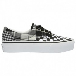 Vans Era Platform Women's Vans Era Platform - Women's Black/True White | Plaid Checkerboard