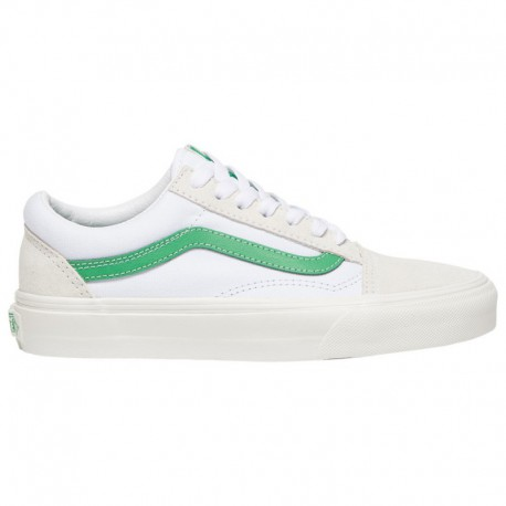 Vans Old Skool White Green Vans Old Skool - Boys' Grade School White/Green