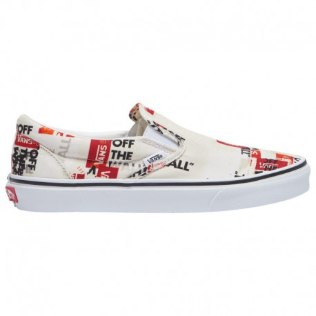 Vans Men's Slip Ons Sale Vans Classic Slip On - Men's Blanc De Blanc/True White