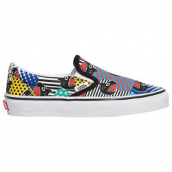 vans classic slip on trainers vans classic slip on gold vans classic slip on boys grade school multi multi shark week