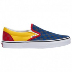 vans classic slip on checkerboard red vans classic slip on sale vans classic slip on men s navy yellow red rally
