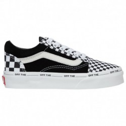 vans old skool off the wall black vans old skool off white black vans old skool boys preschool black white off the blank