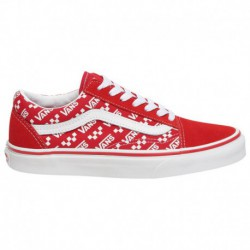vans old skool white red white red vans old skool vans old skool boys grade school red white repeat logo