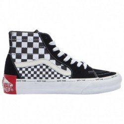 vans mixed quilting sk8 hi old skool mixed check vans vans sk8 hi mixed check women s black white