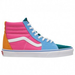 vans sk8 hi multi bright vans sk8 hi bright color blocked skate shoes vans sk8 hi men s multi color bright